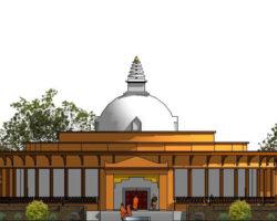 Stupa front elevation