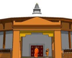 Stupa front entrance