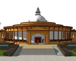 Stupa front view